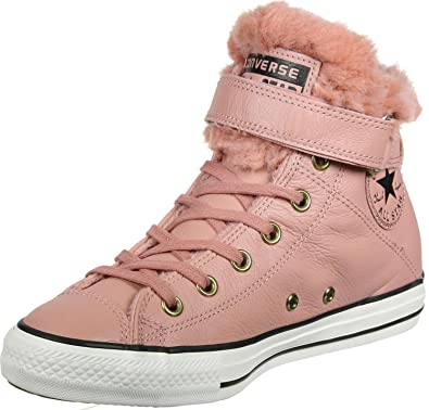 5b53bc2d3a3c Converse Chuck Taylor All Star Brea leather Fur women sneaker Pink Blush
