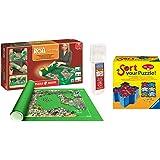 Outletdelocio. Pack Puzzle Roll 3000 XXL. Tapete universal para transportar/guardar puzzles hasta 3000 piezas + Pegamento puzzles + bandejas portapiezas
