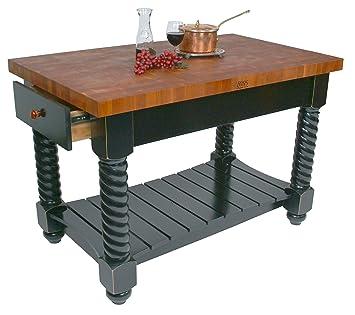 Amazon Com American Heritage Tuscan Kitchen Island With Wood Top