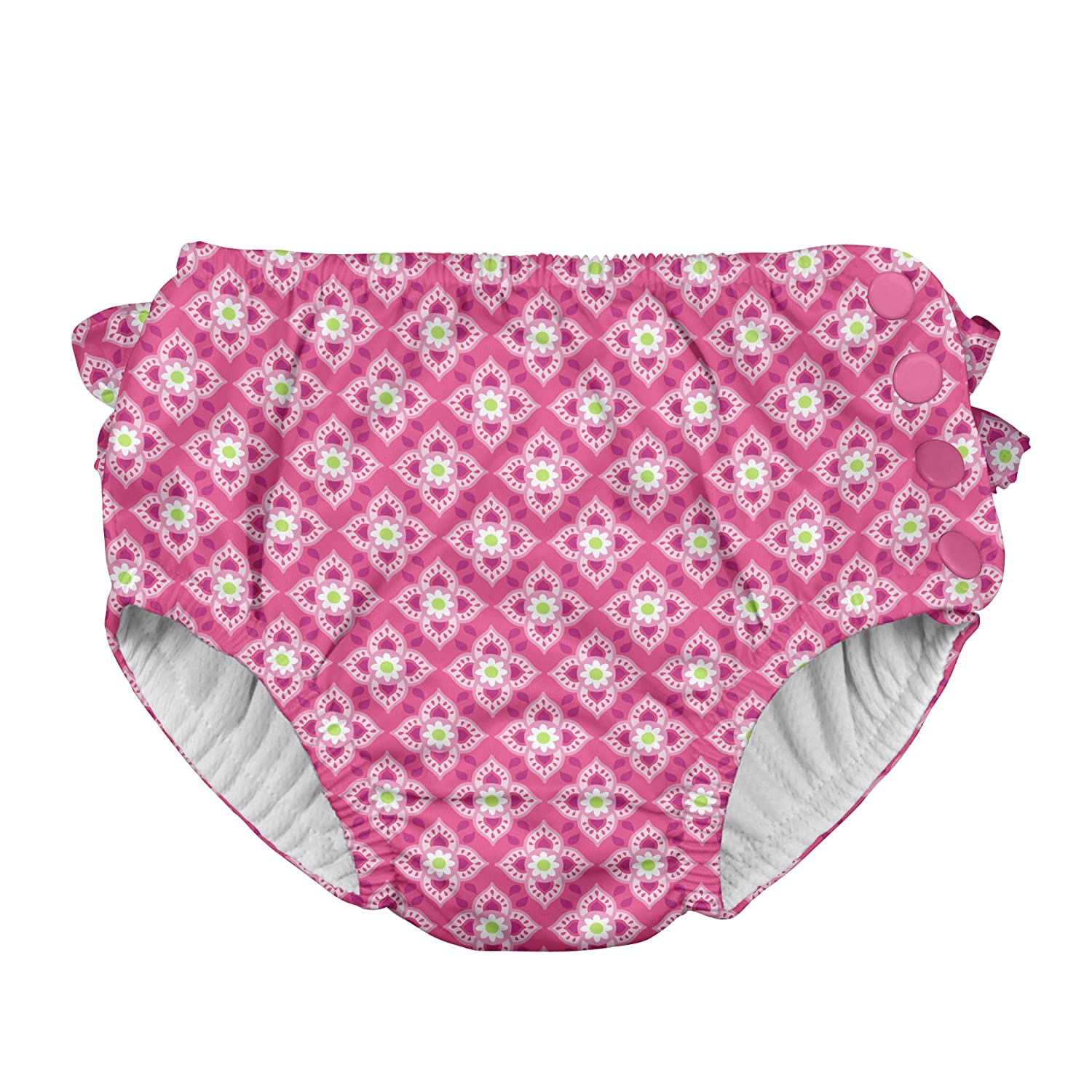 i play. Baby Girls' Ruffle Snap Reusable Absorbent Swim Diaper i play Children' s Apparel