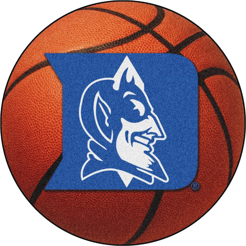FANMATS NCAA Duke University Blue Devils Nylon Face Basketball Rug