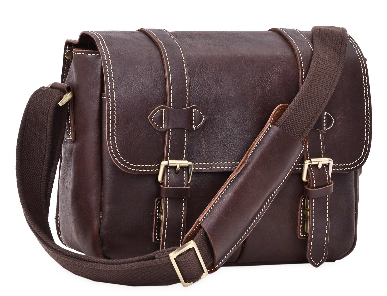 63b860939f7b Amazon.com  ALTOSY DSLR Camera Bag Leather Crossbody Bag Shoulder Messenger  Bag 8101 (Dark Brown)  Electronics