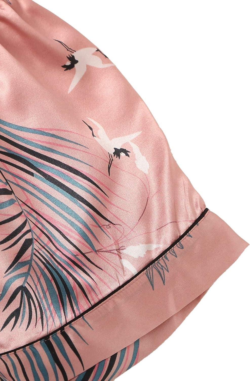 SheIn Womens 7pcs Pajama Set Cami Pjs with Shirt and Eye Mask