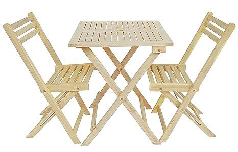 Amazon Com Zen Garden Zg011 Wood Foldable 3 Piece Square Bistro Set