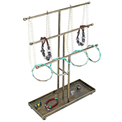Amazoncom 3 Tier Metal Rod Jewelry Organizer and Display Stand