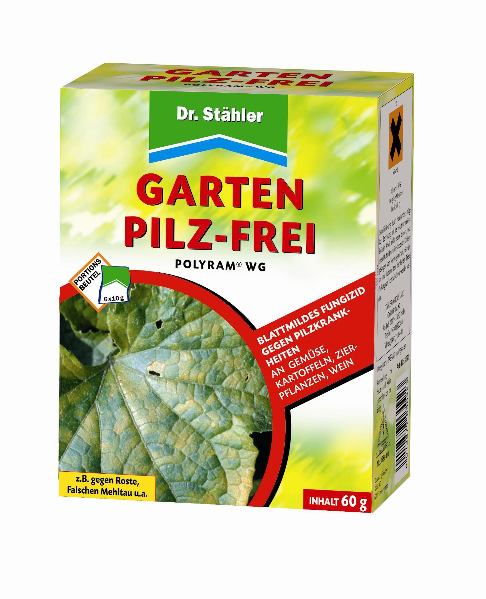 Dr. Stähler 030923 Garten Pilz-Frei, Fungizid gegen Pilzkrankheiten an Gartenpflanzen, 6 Portionsbeutel product image