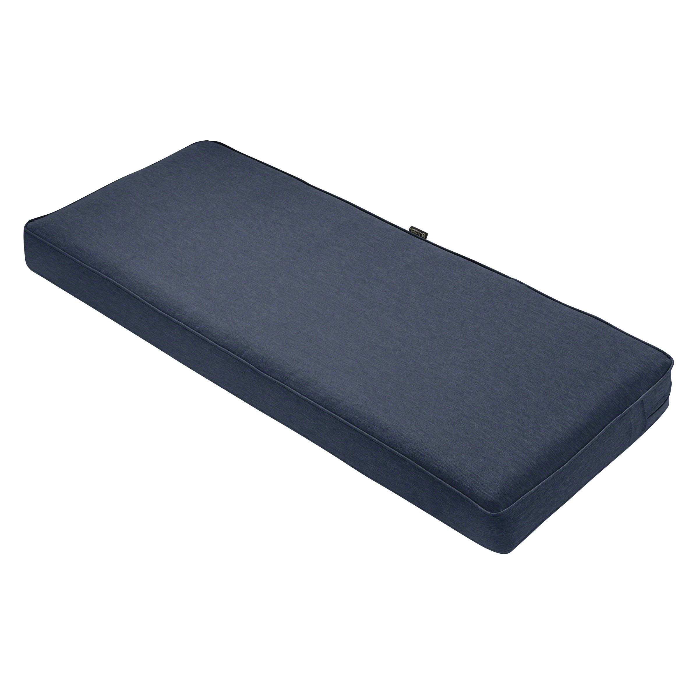 Classic Accessories Montlake Bench Cushion Foam & Slip Cover, Heather Indigo, 42x18x3'' Thick