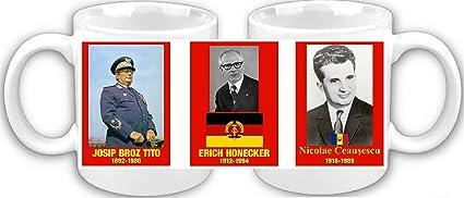 Mariscal Tito Honecker Ceausescu DDR Souvenir taza de café