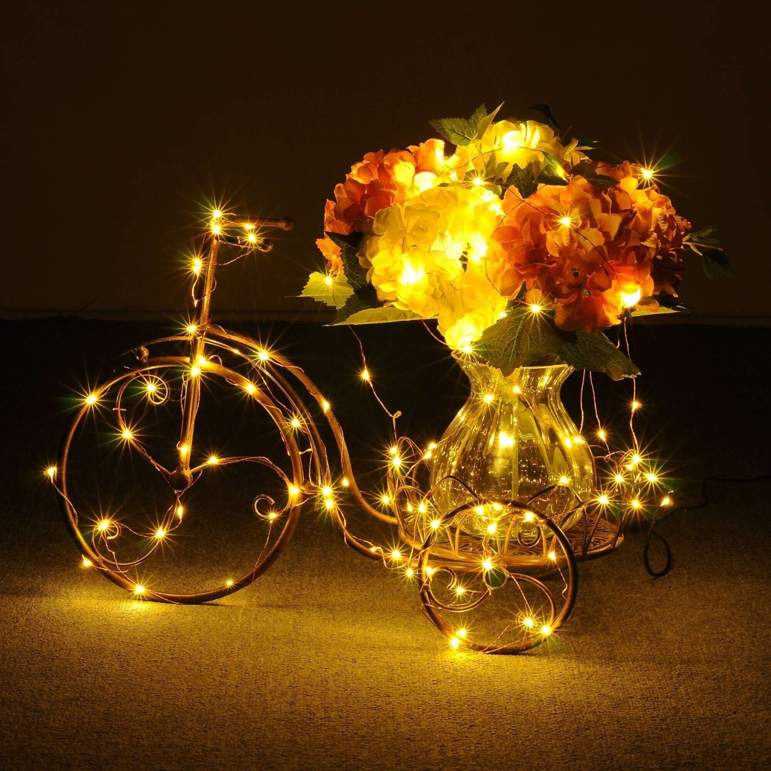 BOLWEO 9 Modes Battery Powered Christmas String Lights with Remote Timer, 5M/16.4Ft 66LEDs Warm White Fairy Copper Wire Lights for Indoor Outdoor Home Garden Christmas Tree Bedroom Decoration