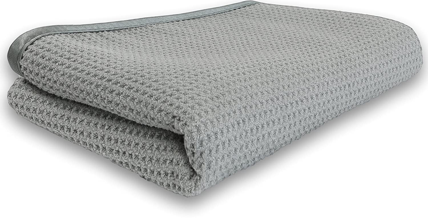Simple Houseware Waffle Weave Gray Matter Microfiber Drying Towel 25 x 36 Inches Grey