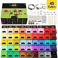 Magicfly Polymeer klei, 45 kleuren, polymeer klei, oven, bakken knutselset met 5 modelleergereedschappen en 40…