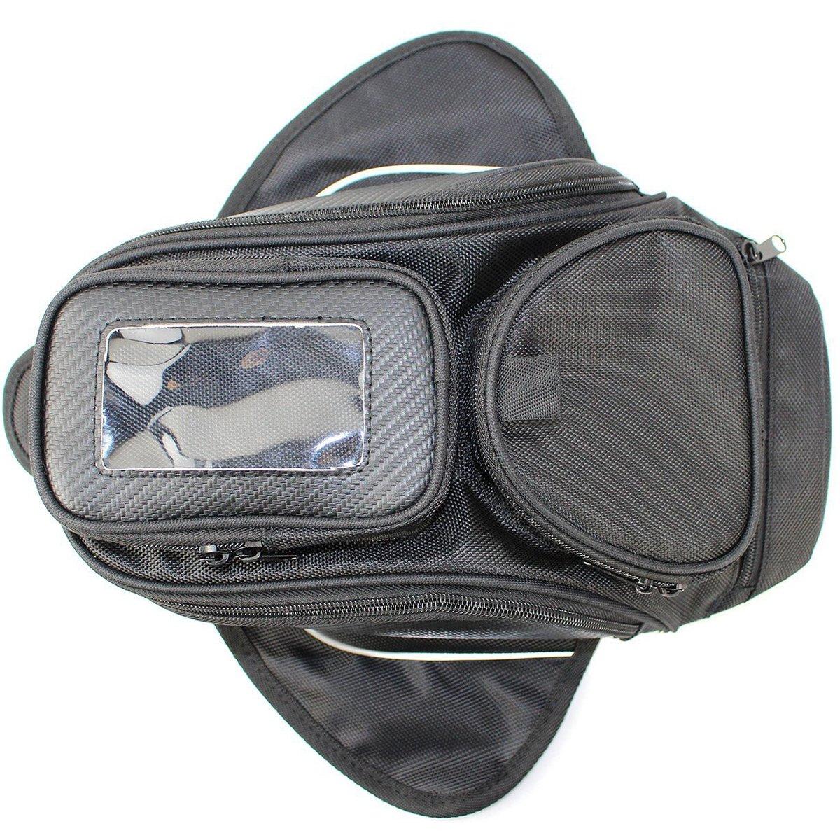 Universal Motorcycle Tank Bag Waterproof, Motorbike Oil Fuel Tank Bag Magnetic Motorbike Riding Bag Case by Amhousejoy (Black) HONGYI TRADE
