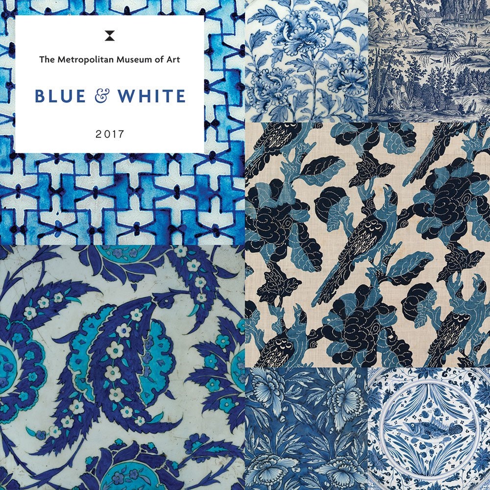 Blue White 2017 Wall Calendar product image