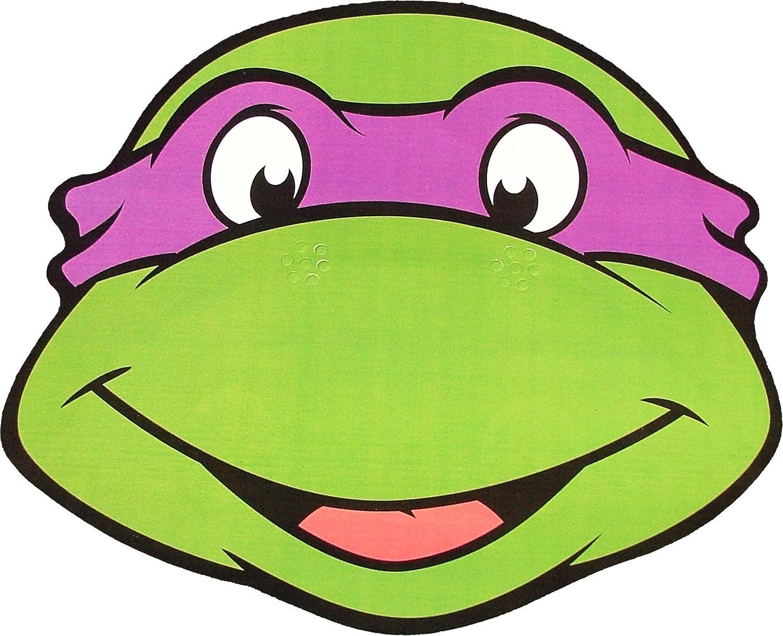 Amazon Com Kids Stars Teenage Mutant Ninja Turtles Donatello Card Face Mask Toys Games