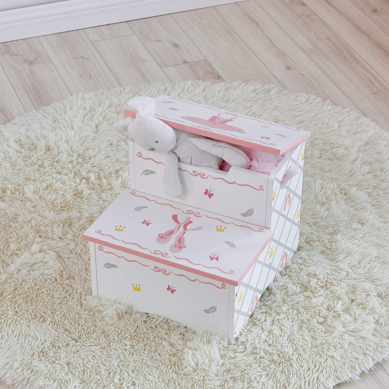 Fantasy Fields Swan Lake Ballerina Step Stool | Muebles de madera pintados a mano para niños: Amazon.es: Bebé