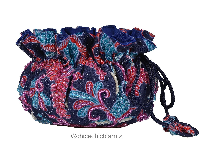 Porta gioielli organizer - Portagioie Da Viaggio - Fatto A Mano (Batik Blue) . 3662918002094