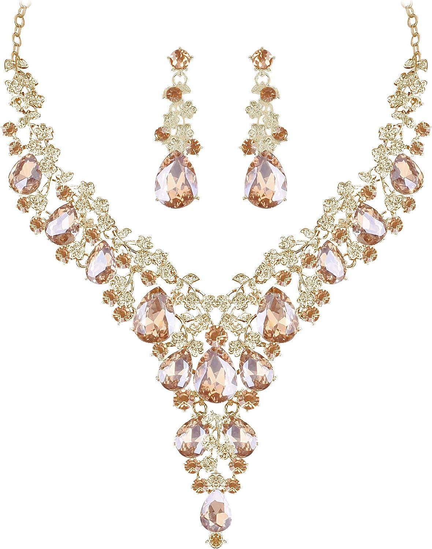 2-piece silver chain pendant necklace drop earrings set Purple plum mauve cluster Czech pearls crystals wedding bridesmaid bridal jewelry