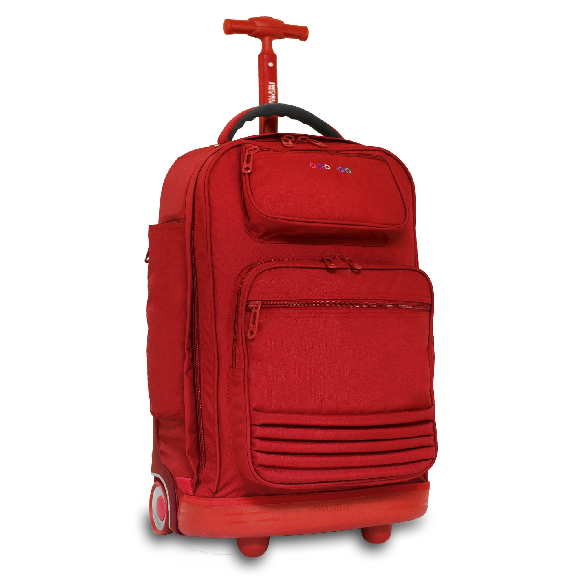 J World New York Women's Parkway Rolling Backpack, RED, One Size