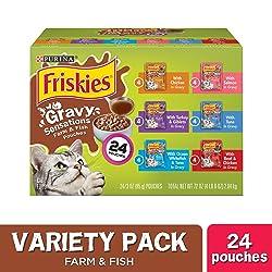 Purina Frisky Gravy Sensation Pouch Favorite Variety Pack Wet Cat Food