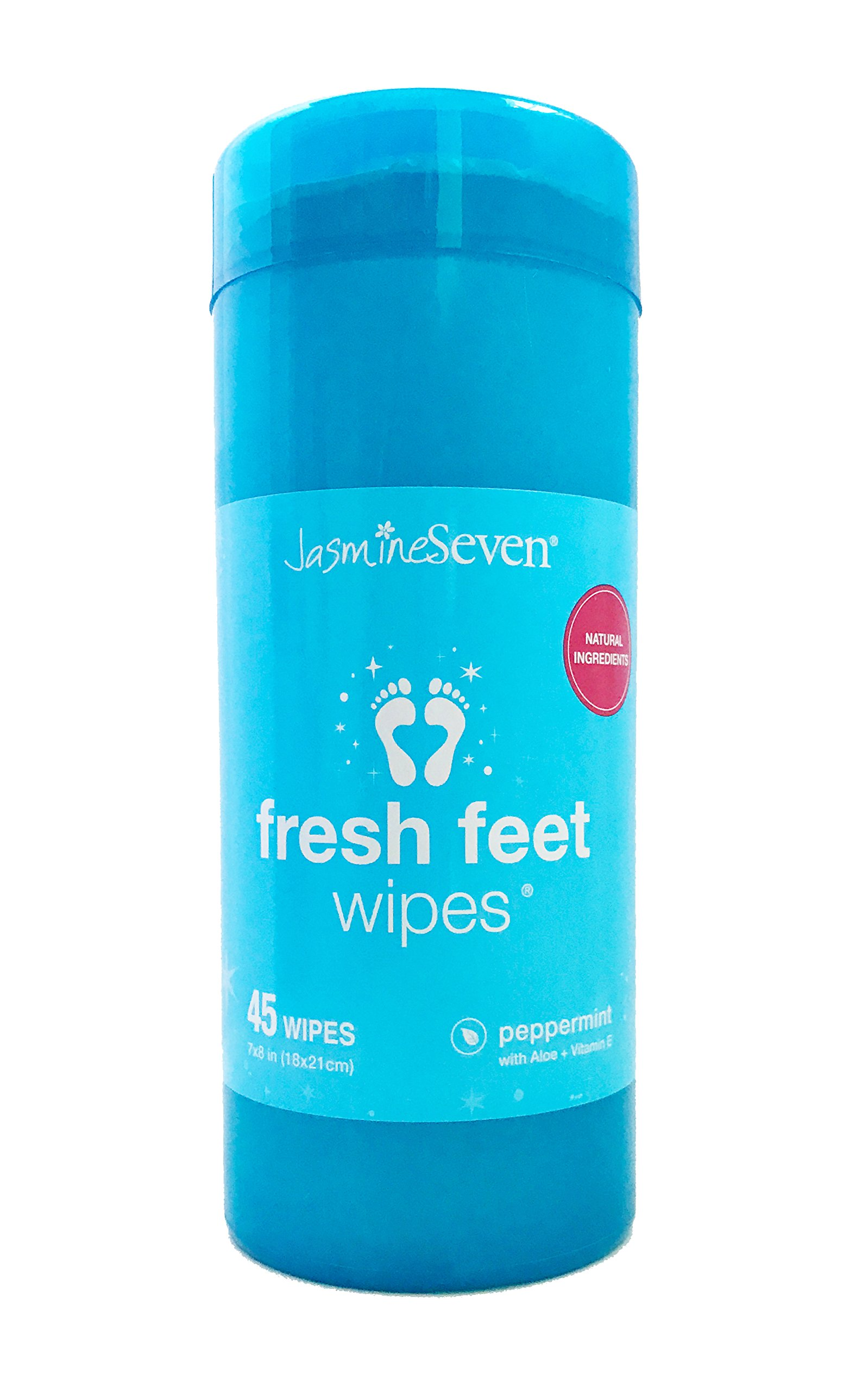 Fresh Feet Wipes - Peppermint - 45 Wipe Canister - by Jasmine Seven