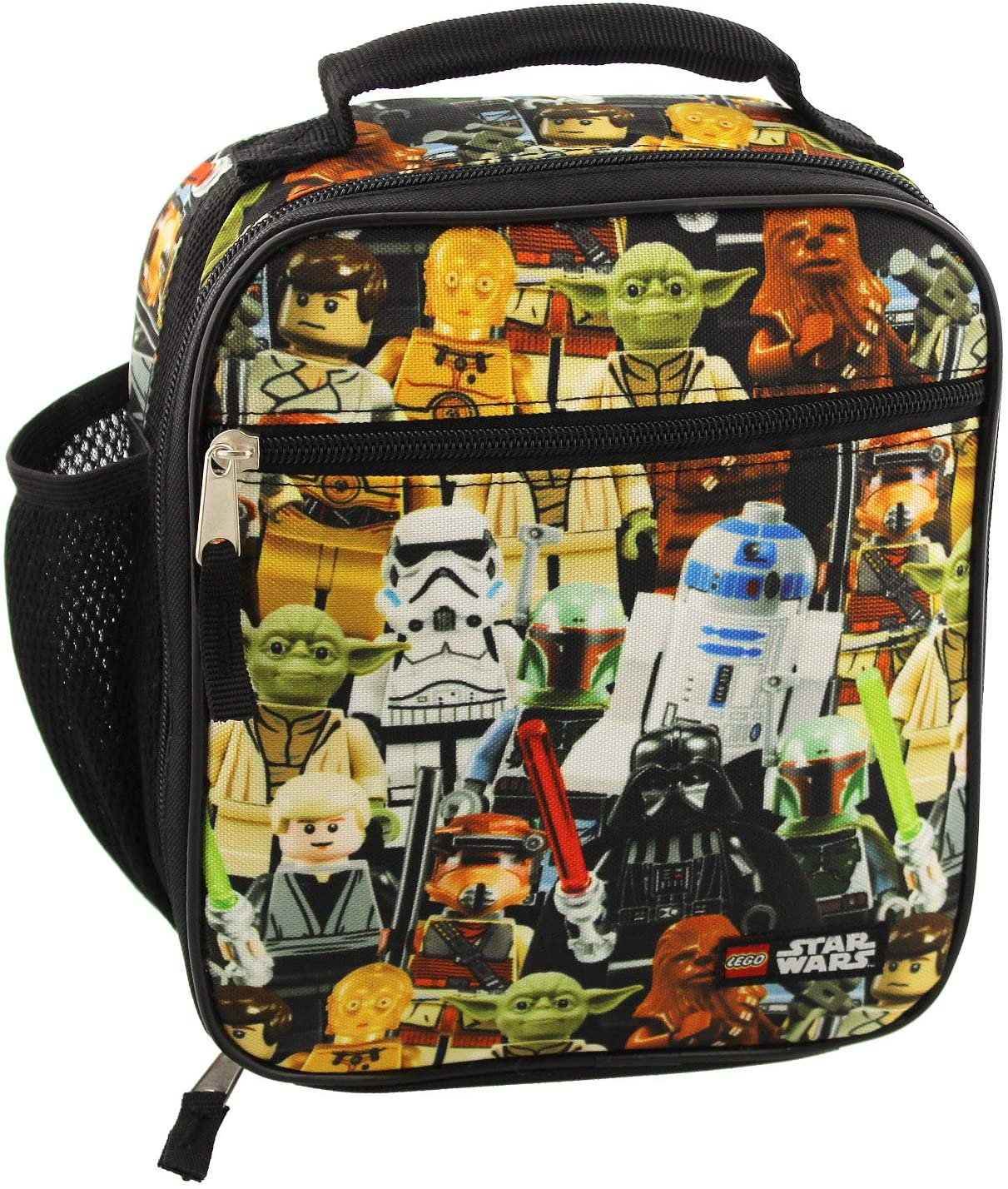 Lego Star Wars Boy\'s Girl\'s Adult Soft Insulated School Lunch Box (One Size, Lego Star Wars)
