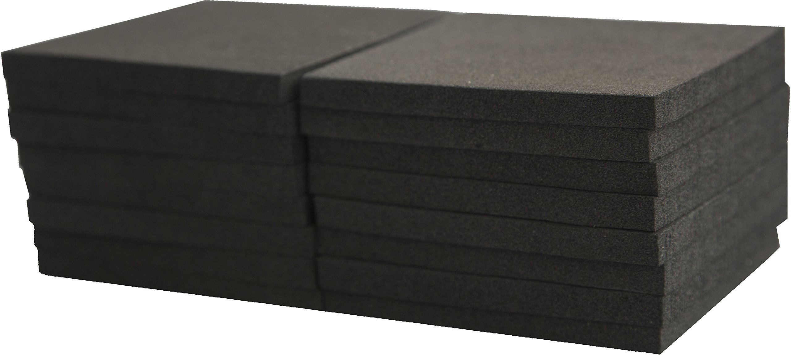Xcel Foam Rubber Padding 16-Piece Acoustic Damper Anti-Vibration Closed-Cell Furniture Pads 3''x3''x1/4''