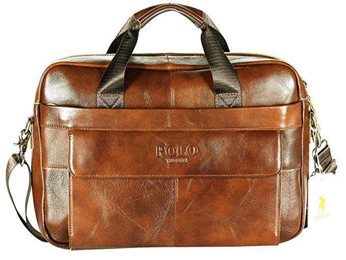 POLO VIDENG Leather Briefcase 74d42397d7ce5