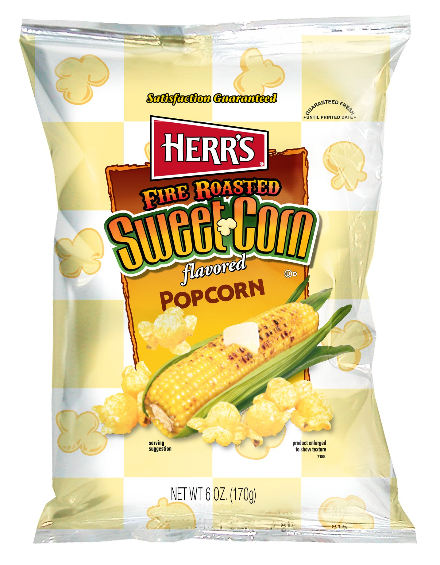 Herr's Fire Roasted Sweet Corn Popcorn, 6 Ounce (Pack of 9)
