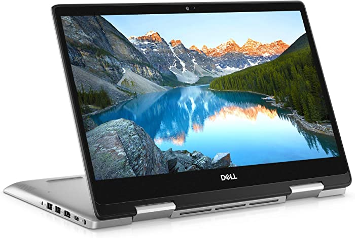Dell Inspiron 14 5491 14 inch 2in1 Convertible Touchscreen FHD Laptop (Silver) Intel core i7-10510U, 8GB RAM, 512GB SSD, Windows 10 Home (i5491-7265SLV-PUS) (Renewed)
