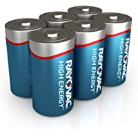 6-Count Rayovac Alkaline D Cell Batteries