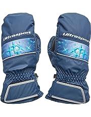 Ultrasport Basic Manoplas de Esquí Starflake Guantes para niños con una Gran Libertad de Movimientos, Impermeables y Resistentes al Viento, para Edades Entre 10 y 12 años