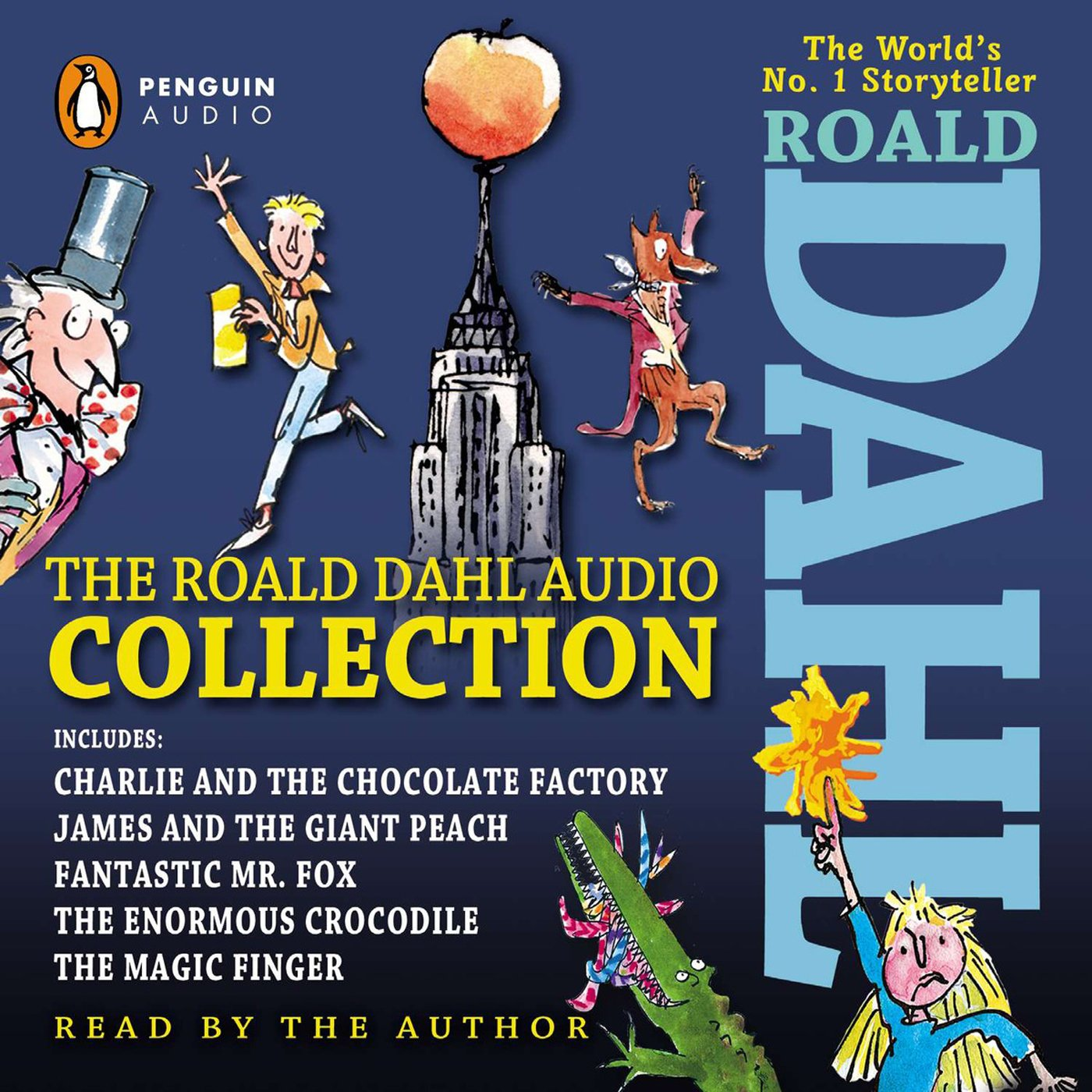 The Roald Dahl Audio Collection: Includes Charlie and the Chocolate Factory, James & the Giant Peach, Fantastic Mr. Fox, The Enormous Crocodile & The Magic Finger by Listening Library (Image #1)