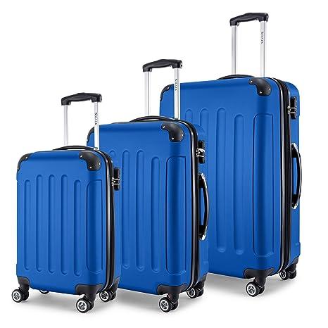 af7ddc45279 Shaik 3-Tlg. Hartschalen Kofferset, Trolley, Koffer, Reisekoffer, 32/78/124  Liter, 4 Doppelrollen, 25% Mehr Volumen Durch Dehnfalte: Amazon.in: Bags,  ...