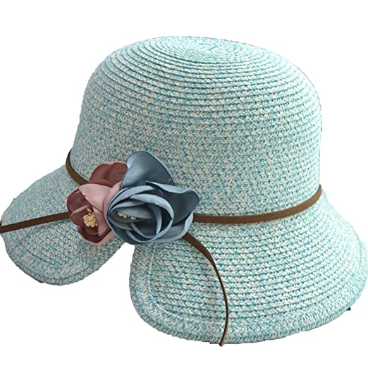 Parenting Straw Hat Flowers Gap Fisherman Hat Leather Rope Sun Hat ... a249b3ae99c