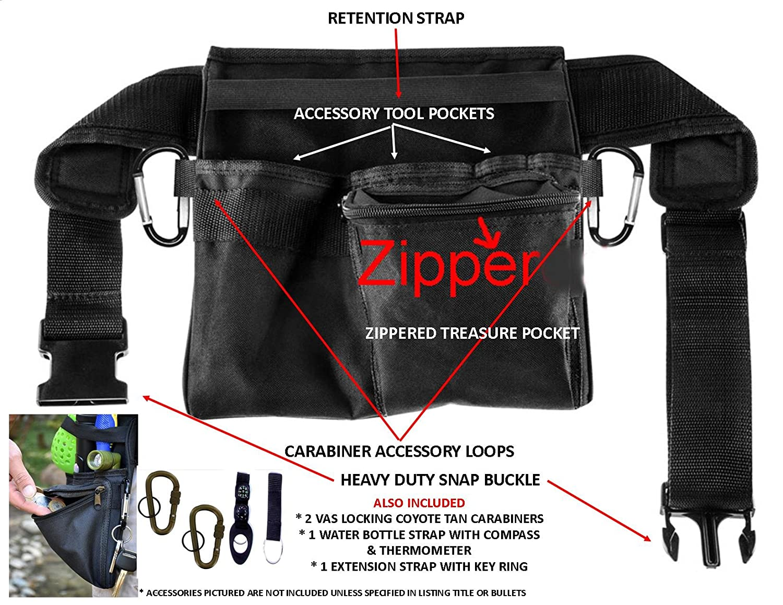 Vas Treasure Hunters y detectores de metal cinturón de herramientas cinturón de herramientas Utilidad de 1 | | moneda Sonda | paleta | Kit de limpieza ...