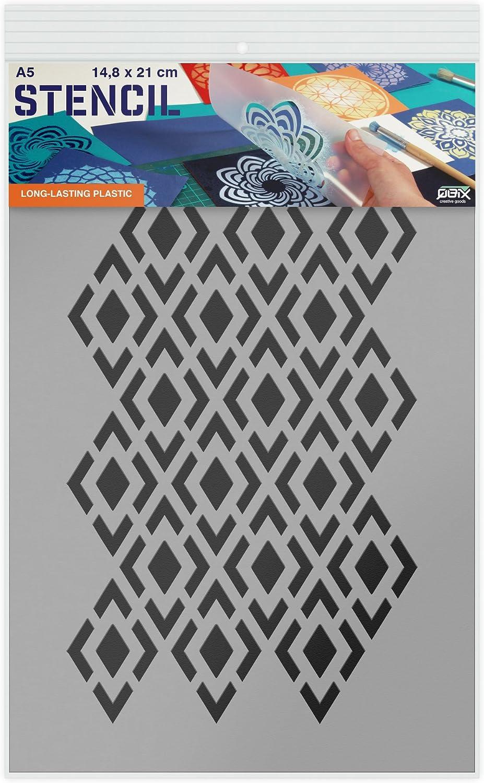 pour Peinture Pochoir Motif travaux manuels Taille A4 Pochoir Bricolage r/éutilisable pour Enfants QBIX Pochoir Motif Diamant Mur p/âtisserie Pochoir Motif /à Carreaux Meubles