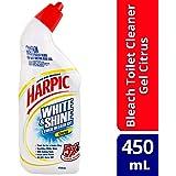 Harpic White & Shine Bleach Gel Toilet Cleaner Citrus, 450ml