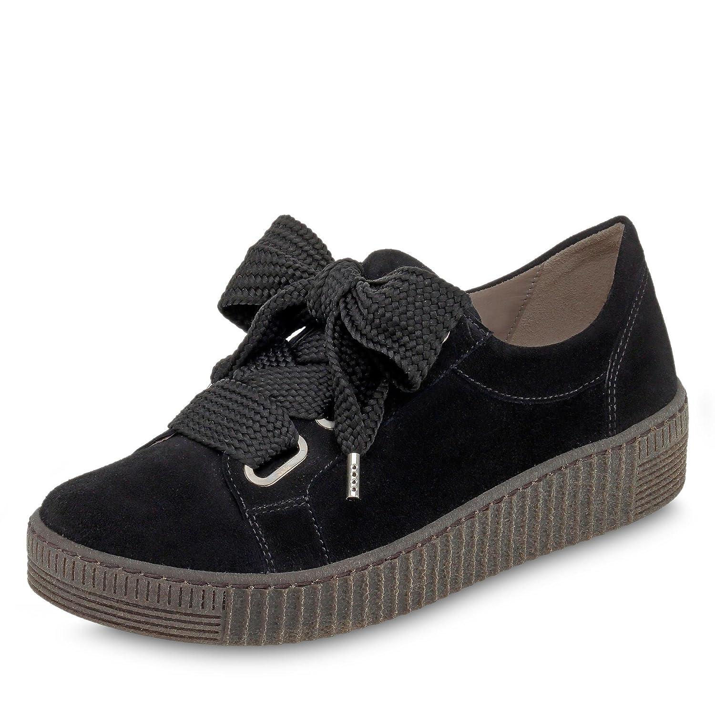 Gabor - Zapatos de Cordones de Cuero para Mujer 7.5|Negro