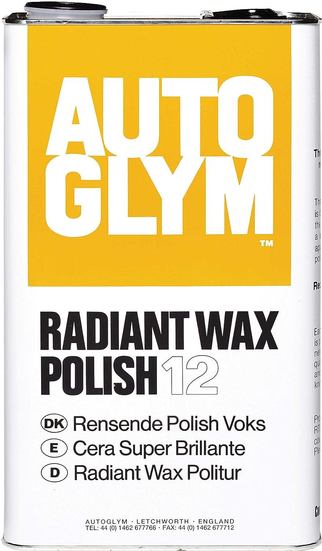 Radiant Wax 5ltr (Autoglym Super Resin Polish) Free 500ml Polish Bottle Autoglym Radiant Wax