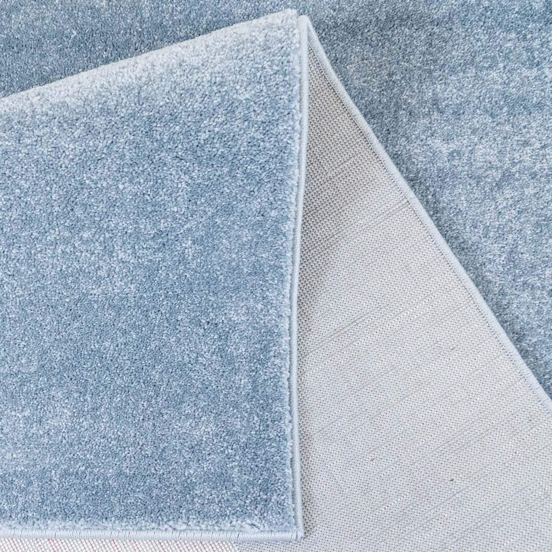 MyShop24h Kinderteppich Teppich Kinderzimmer Kinderzimmer Kinderzimmer Hochwertig Panda-Bär in Pastell-Blau mit Konturenschnitt, Größe in cm 160 x 230 cm a64428