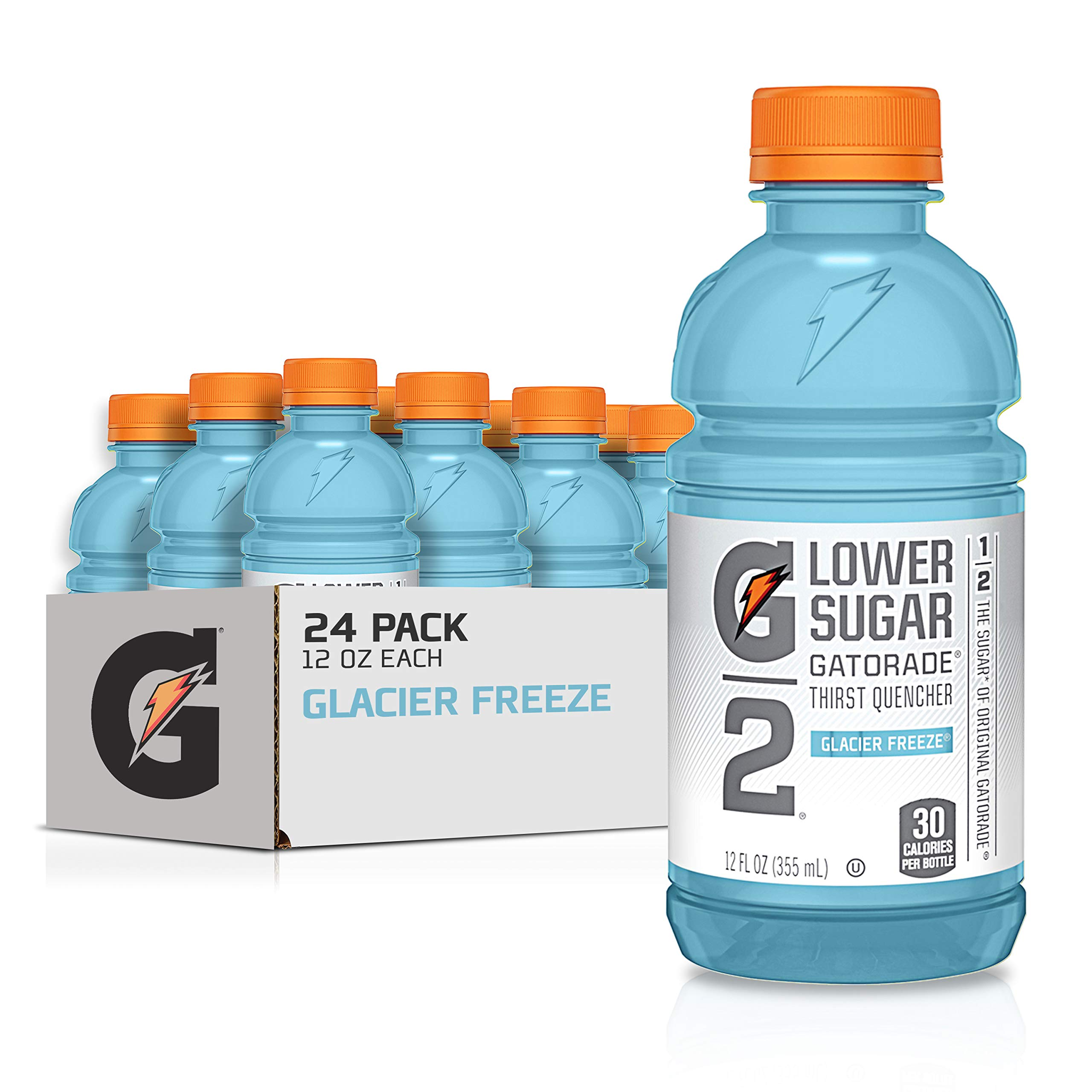 Gatorade G2 Thirst Quencher, Lower Sugar, Glacier Freeze, 12 Ounce Bottles (Pack of 24)