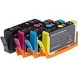 AmazonBasics Wiederaufbereitete Tintenkartusche HP 364, Kombi-Pack - Schwarz, Cyan, Magenta, Gelb