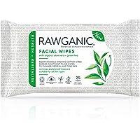 RAWGANIC verfrissende gezichtsdoekjes | parfumvrije, biologisch afbreekbare katoenen doeken | met aloë vera & groene…