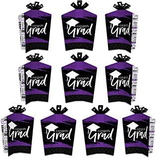 product image for Big Dot of Happiness Purple Grad - Best is Yet to Come - Table Decorations - 2021 Purple Graduation Party Fold and Flare Centerpieces - 10 Count
