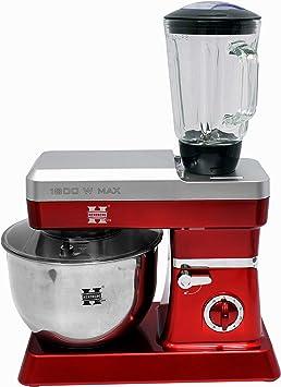GYD Herzberg HG-5065 - Robot de cocina (1800 W, máx. 6,5 L), color rojo: Amazon.es: Hogar