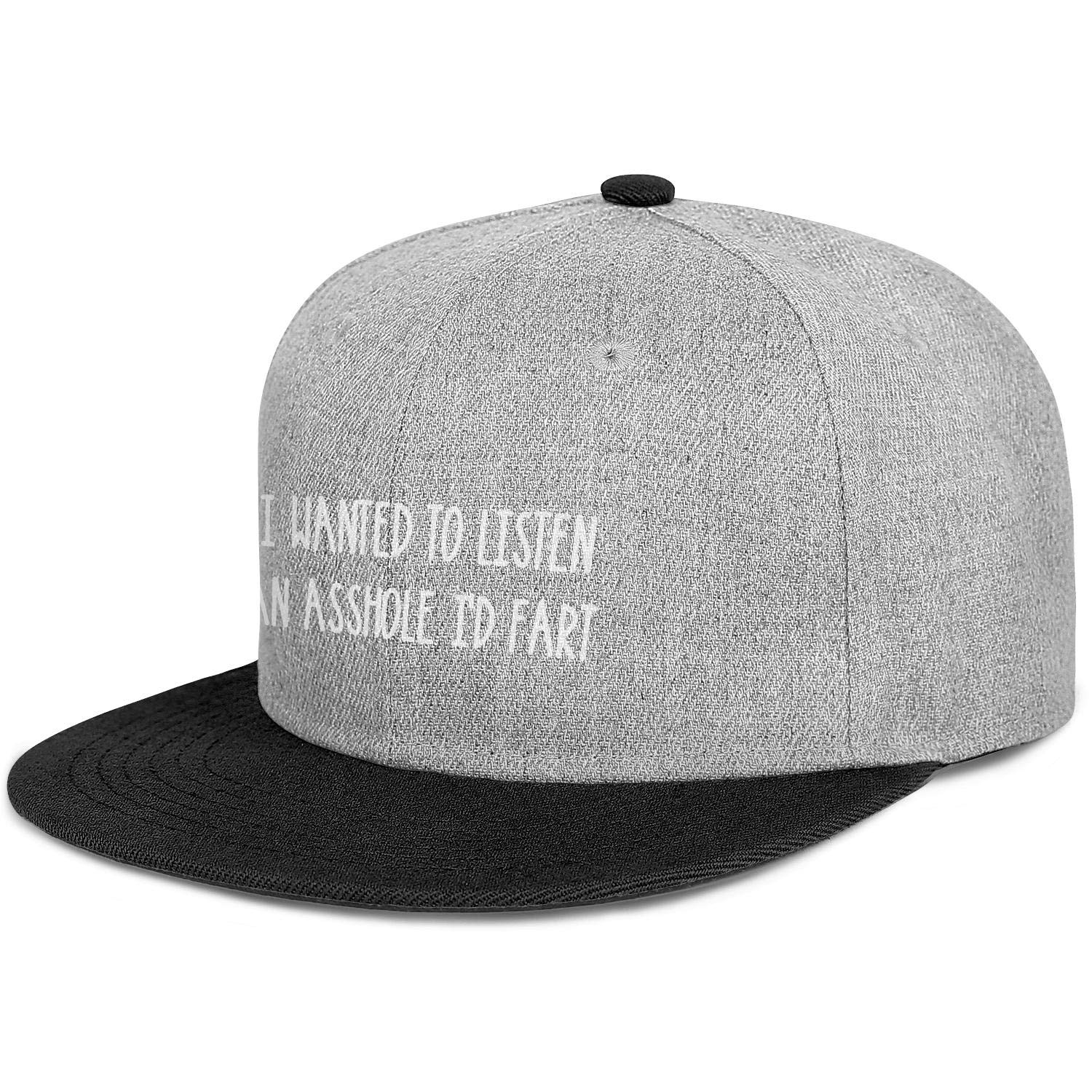 IF I Wanted to Listen to an Asshole Id Fart Men Women Wool Cool Cap Adjustable Snapback Beach Hat