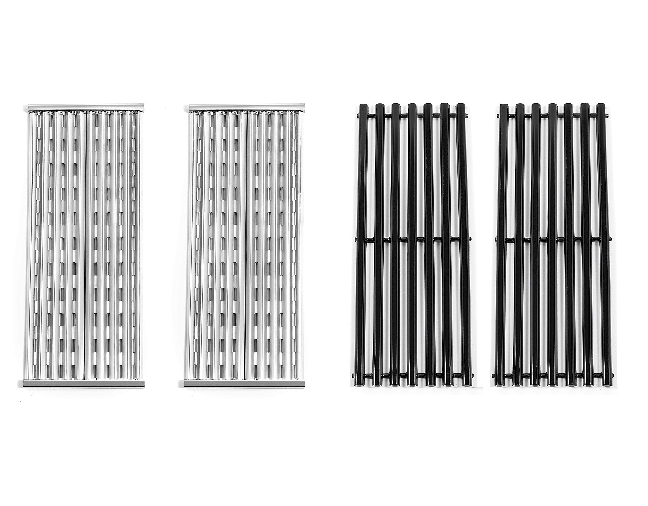 Replace parts 2 Pack Stainless Steel and Porcelain Steel Cooking Grid Replacement for Charbroil 463273614, 466241013,466246910, 466247110 Gas Grill Models by Replace parts