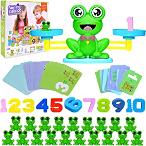 SCOTON Frog Balance Counting Toys Educational Number Toy Cool Math Game for Boys & Girls Age 3+ (63 PCS)