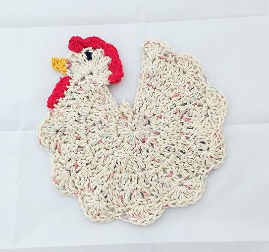 Amazon Crochet Chicken Potholder Handmade