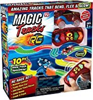 Ontel Magic Tracks RC - Remote Control Turbo Race Cars & 10 ft of Flexible, Bendable Glow in the Dark Racetrack - As Seen on